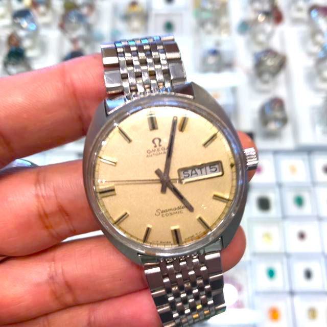 Vintage Omega Seamaster Cosmic Stainless Steel With Steel Link