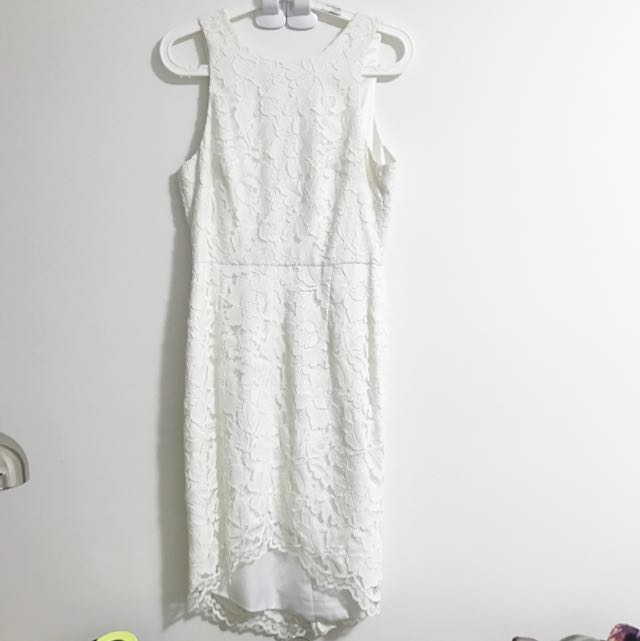 White Lace Dress Forever New Size 10