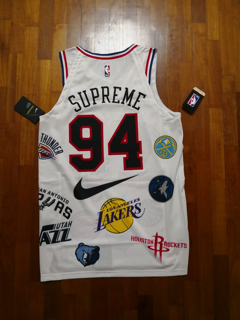 brand new f97c5 60da4 WTT/WTS Supreme NBA Jersey white size M, Men's Fashion ...