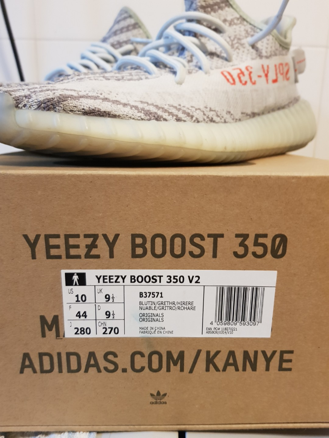 separation shoes 3ae6e 1be63 Yeezy 350 v2 blue tint, Men s Fashion, Footwear, Sneakers on Carousell