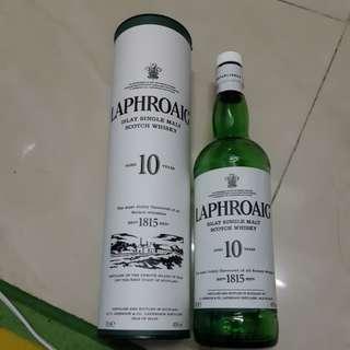 Laphroaig 10年 酒樽