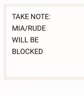 MIA/RUDE: ⛔