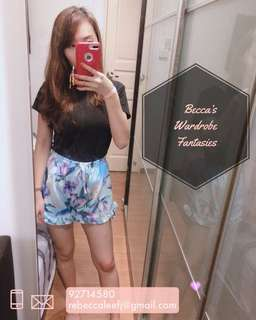 Floral mermaid shorts set