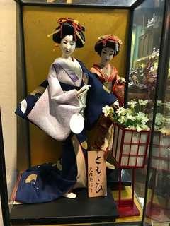 舊日本娃娃擺設