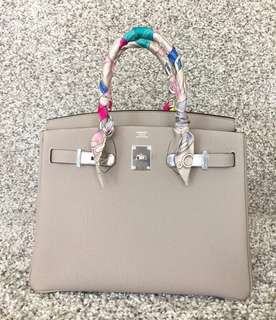 💓Hermes Birkin 30 Gris Tourterelle Colour 81 Stamp T full set 靚色