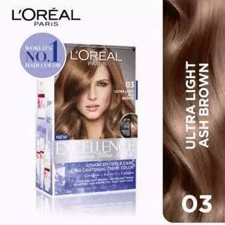 LIMITED SALE!! 2 boxes Loreal hair dye in Ash Brown