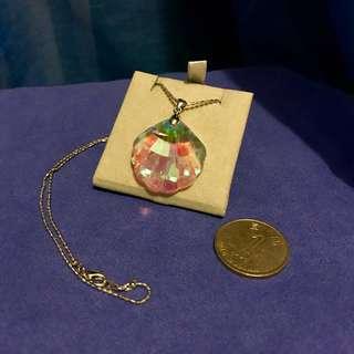 貝殼型 水晶吊墜連頸鏈