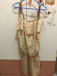 Jumpsuit in Cream and Brown