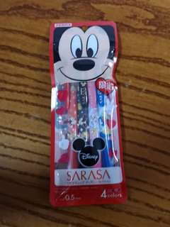 Sarasa Limited Edition Mickey Disney Clip Pens