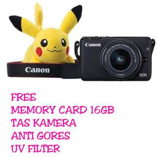 Canon EOS M10 Kit 15-45MM IS STM Black ( Paket Bonus )