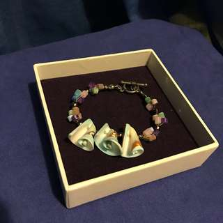 貝殼彩石手鍊