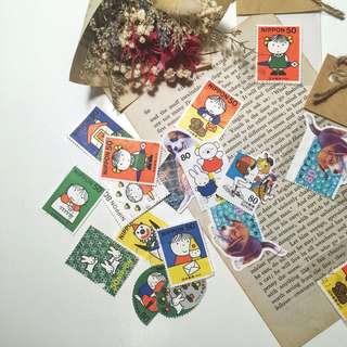 日本消戳郵票 卡通米飛兔 miffy Nippon 古董 郵票蒐藏