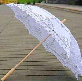 Vintage Lace Parasols Bridal Umbrella (White)