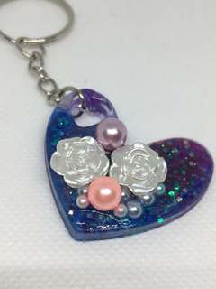 Galaxy heart with roses and pearls (Includes NM)