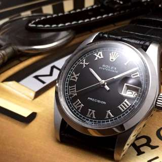 FOR SALE- 34mm Rolex Oysterdate In Black Roman