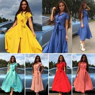 [PRE-ORDER] SUMMER WOMEN BOHO LONG MAXI DRESS EVENING COCKTAIL PARTY BEACH DRESS