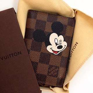 Customize Lv Wallet X Mickey