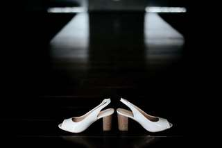 "Parisian White Sandals 3"""