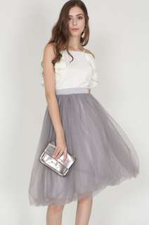 MDS Tulle Skirt in Dove Grey