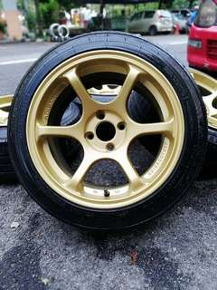 Advan rg 15 inch sports rim myvi tyre 70%. *below market price*
