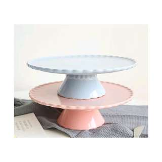{FOR RENT} Pastel Blue Ceramic Cake Stand for Birthday, Baby Shower and Wedding