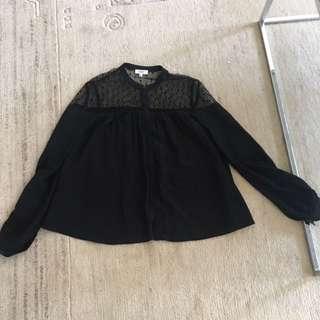 Aritiza Wilfred silk blouse