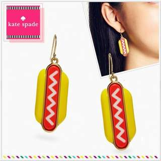 Kate spade X Darcel Hot dog earrings