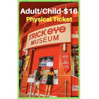 Trick Eye Museum E Ticket and Physical Ticket offer!!