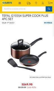 BNIB Tefal 4 pieces set