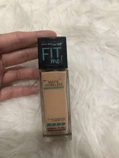 Maybelline fit me foundation shade 125 nude beige