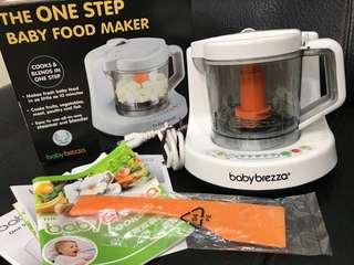 買就送韓國分裝盒*購自安琪兒BabyBrezza one step副食品調理機