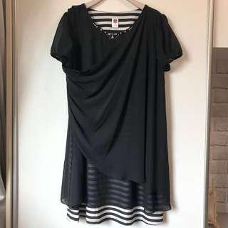 🚚 伊蕾 ILEY 條紋洋裝 2XL大尺碼
