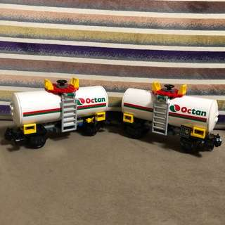 Lego 7939 Train Octan Gas x2