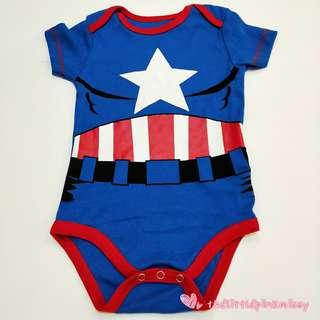 Superhero Captain America Baby Romper