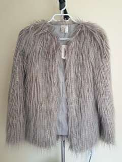 Forever 21 faux fur jacket, small