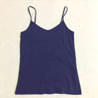 Forever 21 Size M Navy Blue Basic Spaghetti Camisole Tops