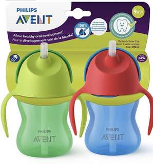 Avent My Bendy Straw Cup 7 Oz 2 pcs