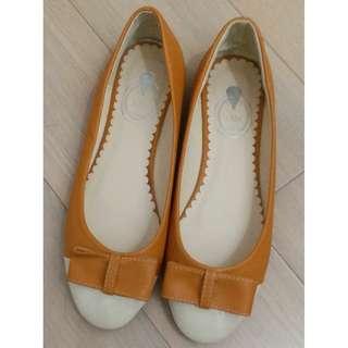 韓國蝴蝶結女裝鞋 42碼 26cm 大碼鞋 平底鞋 OL鞋 上班鞋 便服鞋