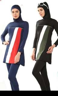 Muslimah Swimwear blue instock size 2XL & M