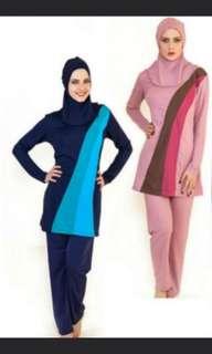 Muslimah Swimwear instock blue size 4XL