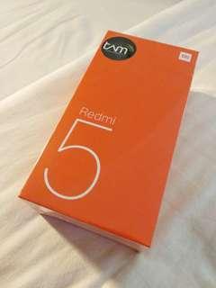 Xiaomi Redmi 5 (3/32) TAM, 100% Baru & Segel..