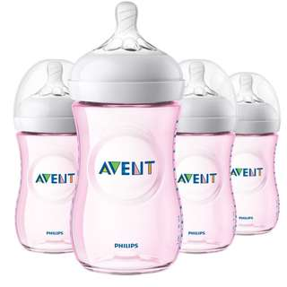Avent Natural Bottle 260ml - pink color