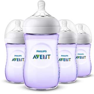 Avent Natural Bottle 260ml - purple color