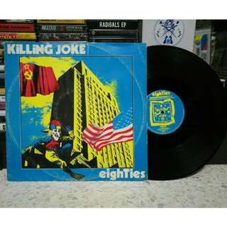 "KILLING JOKE 'Eighties' 12"" vinyl single LP piring hitam"