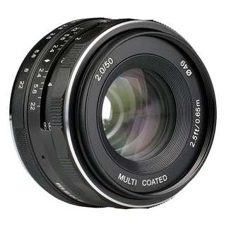 Lensa meike 50mm f2.0 for sony mirrorless