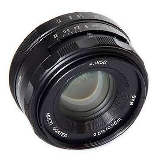 Lensa meike 50mm f2.0 for fujifilm