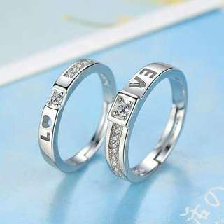 💥全新💥超低價❤情侶對戒❤求婚戒指❤定情戒指💥尺寸可自行調整💥