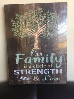 Large sized Family Tree Wooden Wall Decor