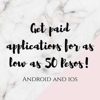 Paid Apps for Sale