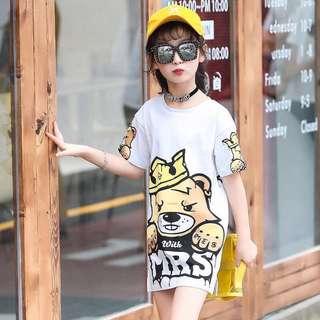 T-Shirt Dress for Girls - COD